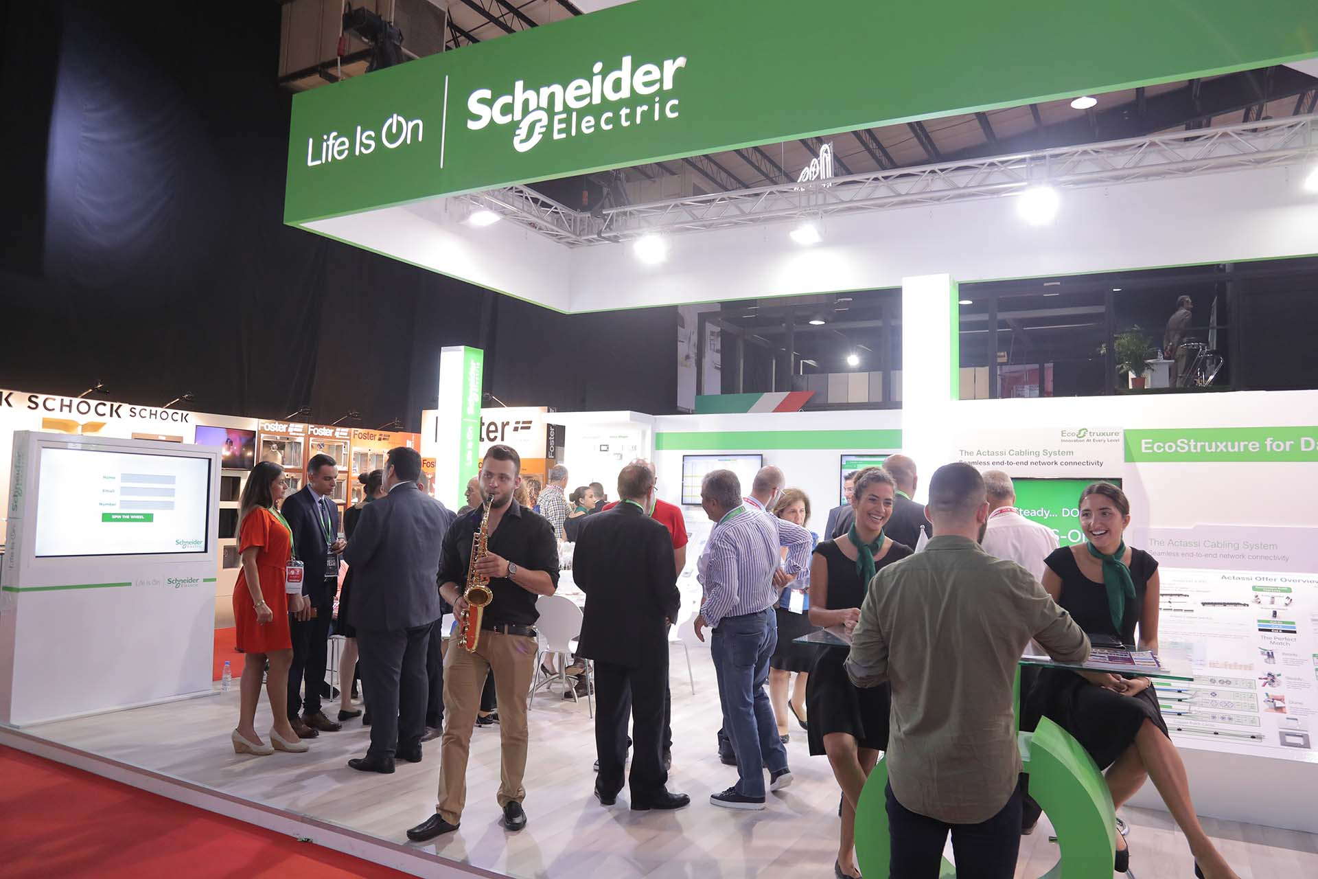 Schneider Electric Stand at Project Lebanon Exhibition