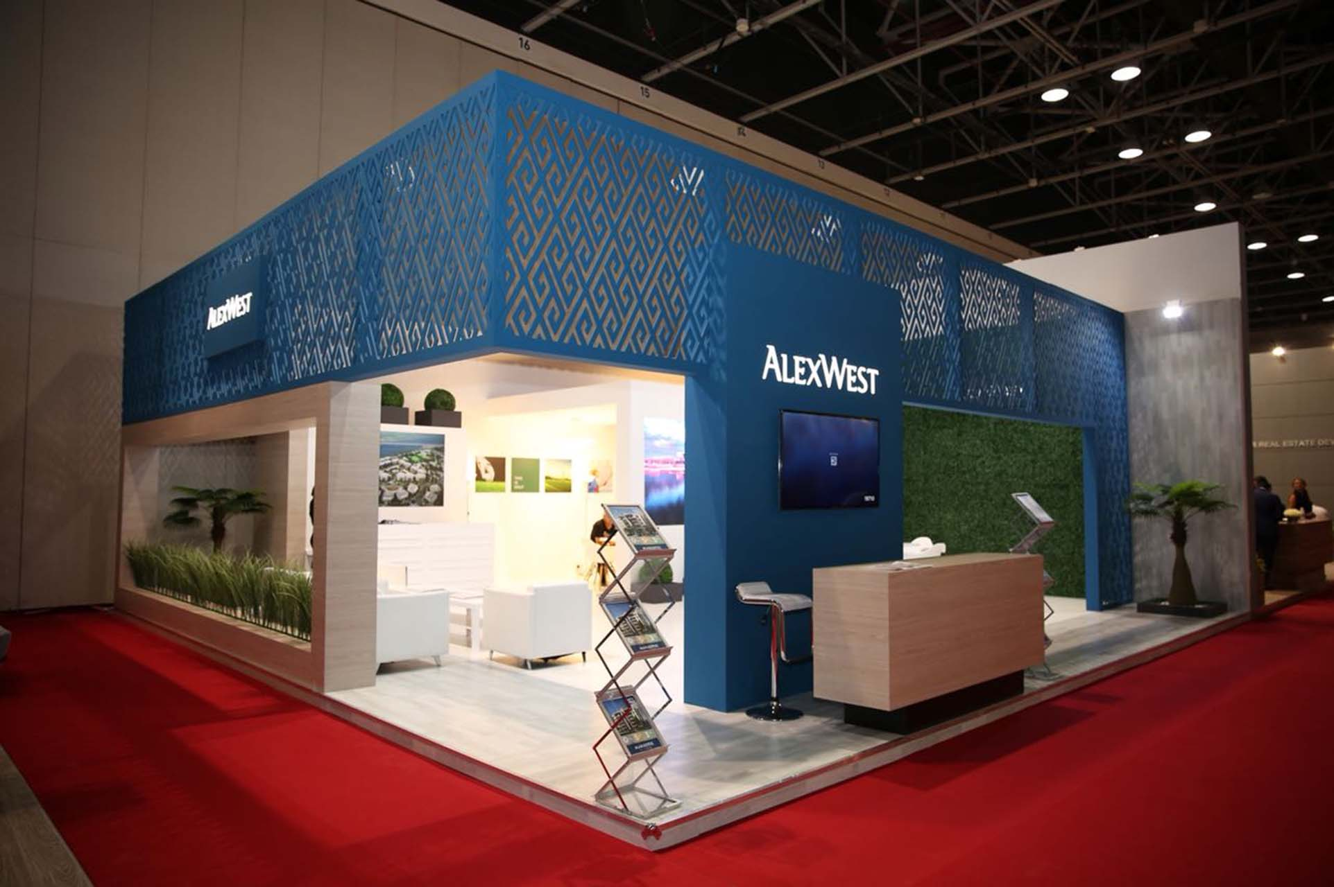 Alex West booth at EPS Dubai